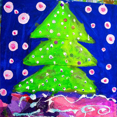 Rosa-grüner Weihnachtsbaum