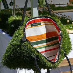 Tasche - recycelter Duschvorhang, Reißverschluß (Foto Karola Rinke)