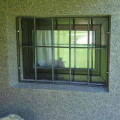 einfaches Kellerfenstergitter