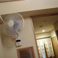 こんにちは扇風機さん。これから頑張ってね。