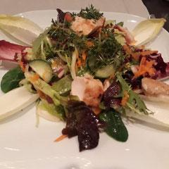 Gegrillter Hasenrücken auf Salat, glutenfrei, Berg & Spa Hotel Gabelbach, Ilmenau, Thüringer Wald