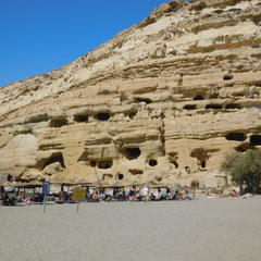 Hippie Höhlen, Matala, Kreta