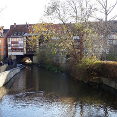 hinter der Krämerbrücke, Erfurt, Thüringen