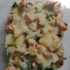 Lachs-Brokkoli-Gratin, glutenfrei