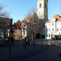 Wenigemarkt Erfurt mit Ägidienkirche, Erfurt, Thüringen
