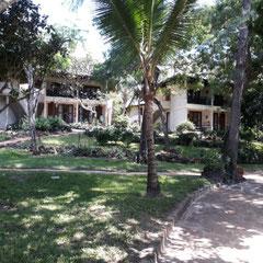 Gartenblick, Hotel Baobab Beach Resort, Diani Beach, Südküste, Kenia, Afrika