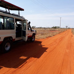 Jeep - Safari, Taita Hills, Tsavo-Nationalpark,  Kenia, Afrika