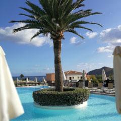 Blick auf Pool, Grecotel Marine Palace, Kreta
