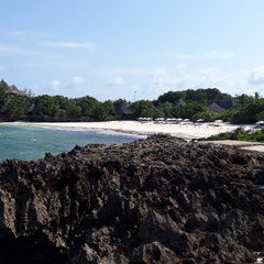 Blick auf Strand, Hotel The Sands at Chale Island, Kenia, Afrika
