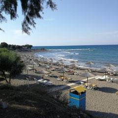 Strand an Taverne, Old Kamiros, Rhodos