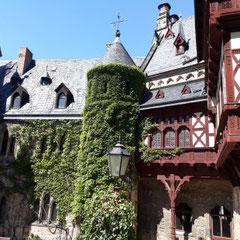 Innenhof Schloss, Schloss Wernigerode, Harz, Sachsen - Anhalt