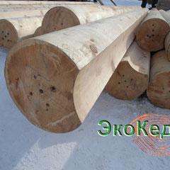 Оцилиндрованное бревно из Алтайского кедра d=280mm