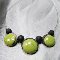 description collier artisanale biou céramique