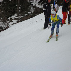 Andreas Hinterholzer beim Start...