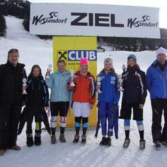 Katrin in der Mitte als Siegerin ihrer Klasse und Vize Bezirksmeisterin im RSL