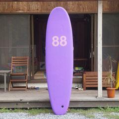 7'0 Single fin by 88 Surfboard
