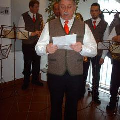 Obmann der Pachermusik Johann Asprian