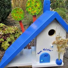 Houten Nestkastje voor Pindakaas pot, Nestkastje, thema, Grieks stijl  Tekst, Vogelhuisje bouwen, vogelhuisje pindakaas pot, huisje tekst
