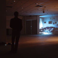 Gedanken, Videoinstallation in einem leerstehenden Elektroladen