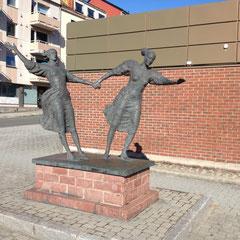 il n'est pas rare de voire en Norvège des statues ornées les rues
