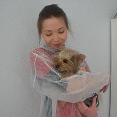 пациентка Бусинка после операции по удалению инородного тела из кишечника