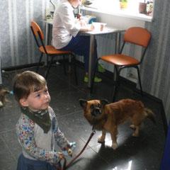 Очаровательная клиентка по имени Ника со своим другом Малышом