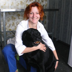 Ветеринарный врач Зотова София Дмитриевна со своей любимицей Талисой