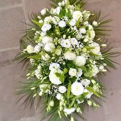 Dessus de cercueil champêtre blanc        150 euros