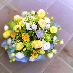 Coupe de fleurs jaune    40 euros