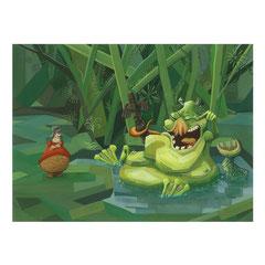 """Illustration du conte """"Ivanka et le génie du lac"""" pour le concours de Bologne."""