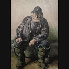 """Reproduction d'une peinture à l'huile sur toile format 60x40cm. Oeuvre originale """" Skagen Fiskere """" de Michael Peter Ancher."""
