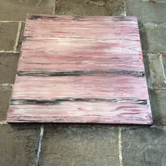 Rot 2 - 100x100 cm, Acryl auf Leinwand