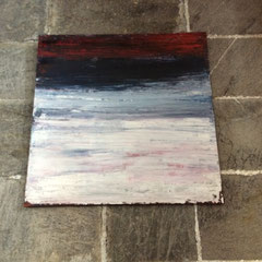 Rot 1 - 100x100 cm, Acryl auf Leinwand