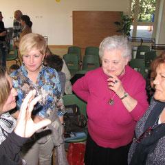 Mamma Romina con le maestre e la nonna Liliana