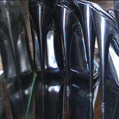 Heels-Sculpture(s), 2002 - 3 temporary sculptures (high heels & mirrors) - Gabrielle Zimmermann