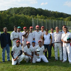 Victorious XI Stars with their supporters