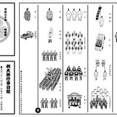 平成30年 神幸祭 行列図