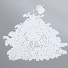 """祈りの夢""""milk on a silver plat""""(210×297mm)NO.   / SP-13-3"""