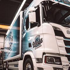 Komplettfolierung LKW Scania