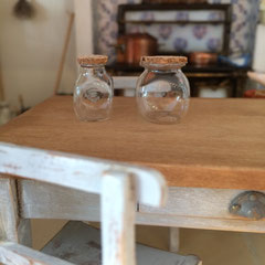 Bocaux en verre  (vaisselle pour maison de poupées)