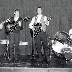 JACKY MATHIS & THE ROCKET BOYS - Ons Huis, Amsterdam ca. 1959/1960 vlnr: Cor Beaux - Herman Sterk - Jaap Mathijssen - Henk Sijbrands - Jaques Tokkie