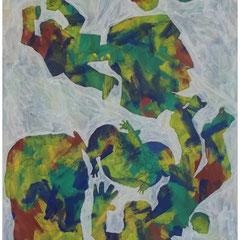 acrylique sur papier 56x76 cm