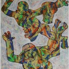 acrylique sur papier 48x63 cm