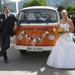 Brautauto Hochzeitsauto Tegernsee VW Bus Bulli Events Hochzeit