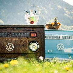 VW Bulli Vintage Theken Tresen Retro Bar mieten