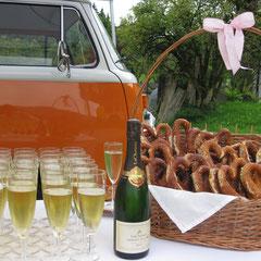Sektempfang Hochzeit Catering Schliersee Tegernsee Chiemsee München