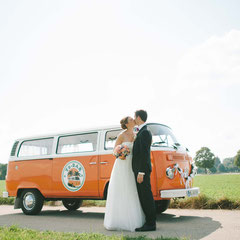 Brautauto Hochzeitsauto Schliersee VW Bus Bulli Events Hochzeit