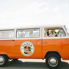 Brautauto Hochzeitsauto VW Bus Bulli Events Hochzeit Sektempfang Schliersee Tegernsee Chiemsee München