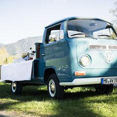 VW T2 Pritsche Bar Drinks Cocktails Bulli Events Hochzeit Sektempfang