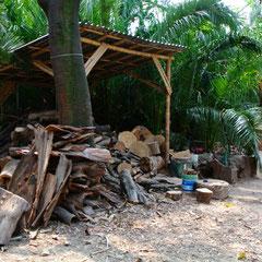 Entreposage du bois